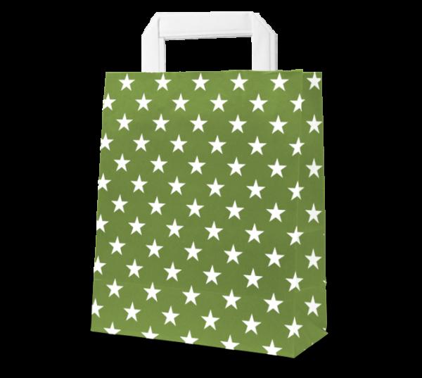 """Papier-Tasche """"Sterne"""" 18 x 22 cm"""