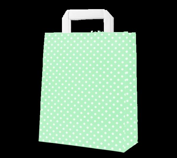 """Papier-Tasche """"Punkte"""" 22 x 31 cm"""