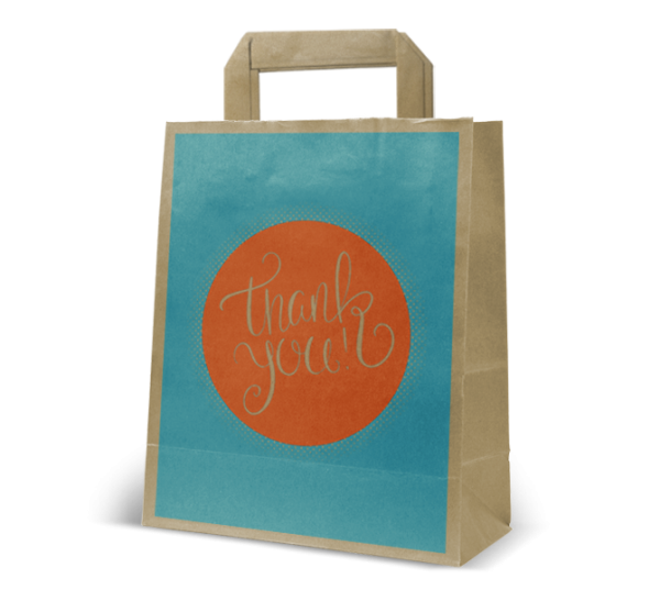 "Papier-Tasche ""Thank you"""