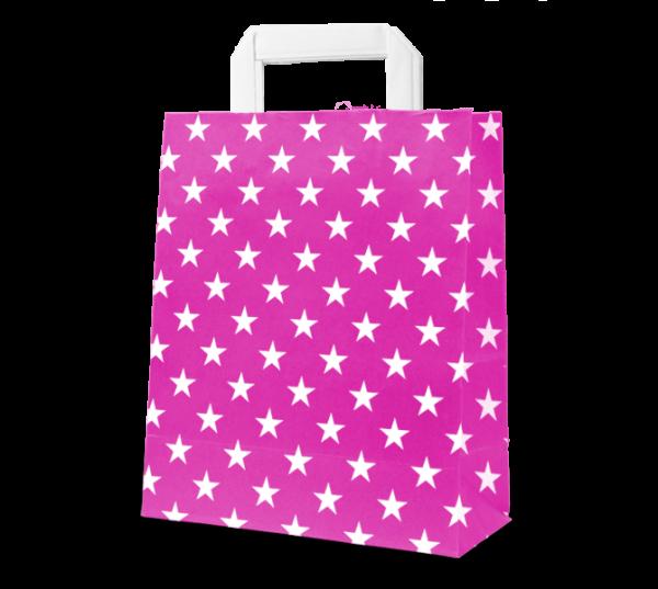 """Papier-Tasche """"Sterne"""" 22 x 31 cm"""